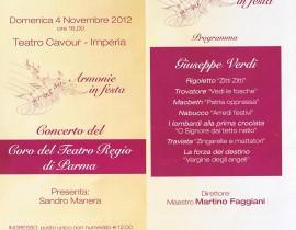 Concerto Coro Teatro Regio di Parma